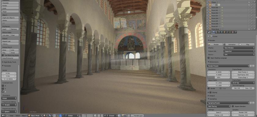 ricostruzione 3d di San Giovanni Evangelista, Ravenna