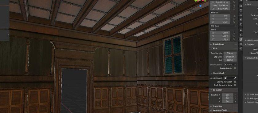 Studiolo Belfiore costruzione 3D Gallerie Estensi Ferrara