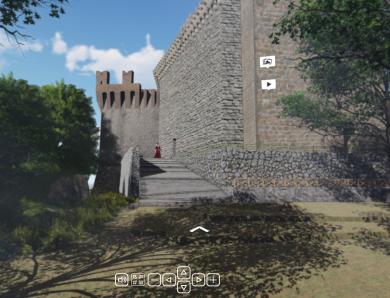 Il tour virtuale nella Rocca di Arquata del Tronto
